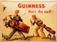 Guinness Golfer steel fridge magnet